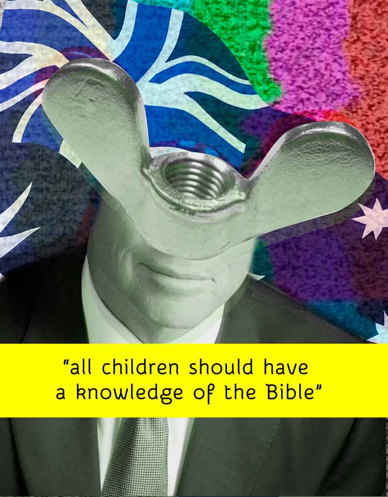 wing nut says : all children should read the bible